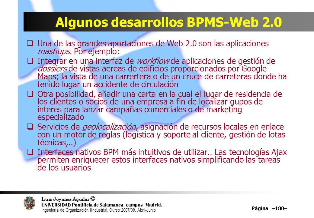Algunos desarrollos BPMS-Web 2.0