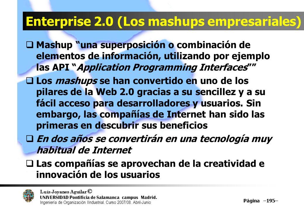 Enterprise 2.0 (Los mashups empresariales)