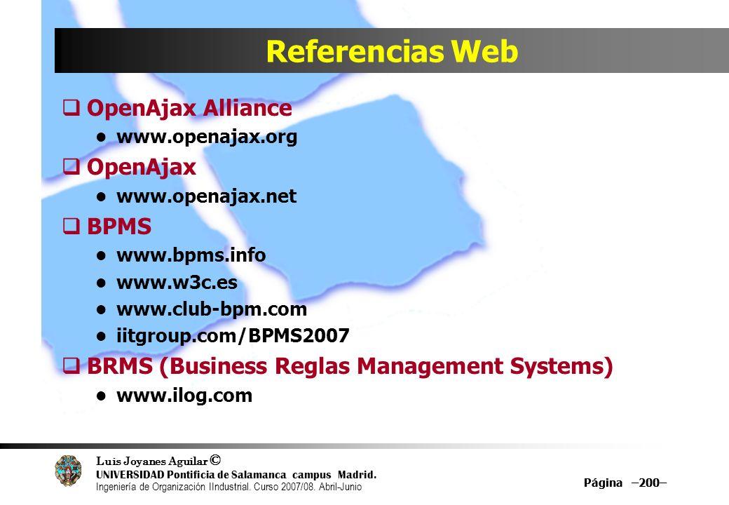 Referencias Web OpenAjax Alliance OpenAjax BPMS
