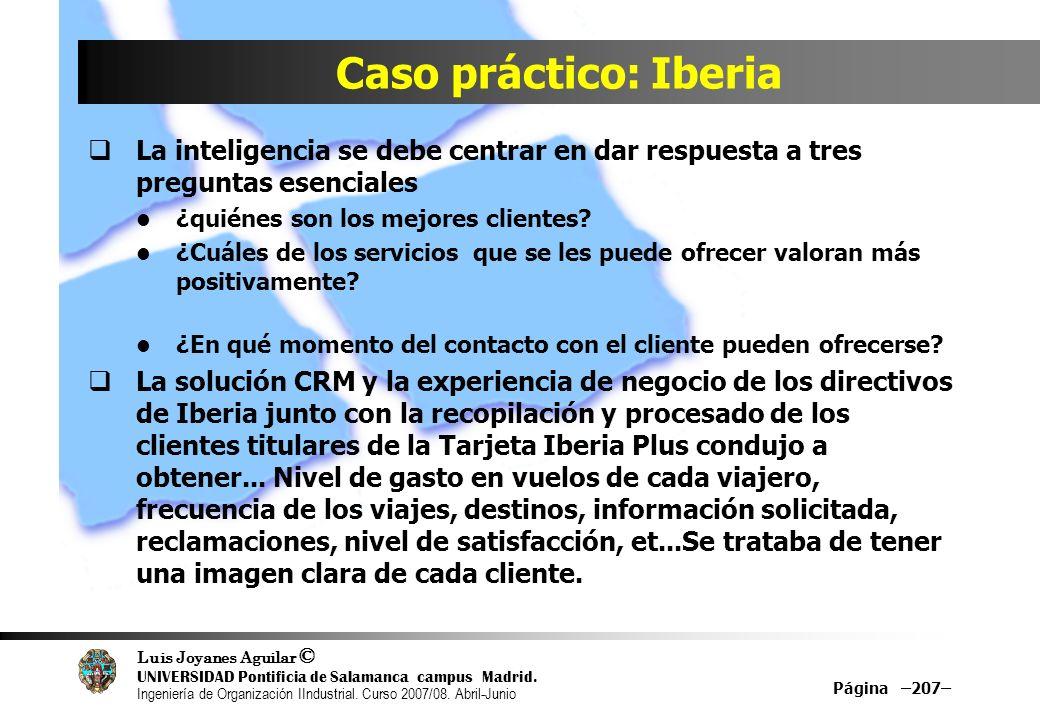 Caso práctico: Iberia La inteligencia se debe centrar en dar respuesta a tres preguntas esenciales.