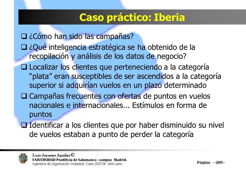 Caso práctico: Iberia ¿Cómo han sido las campañas
