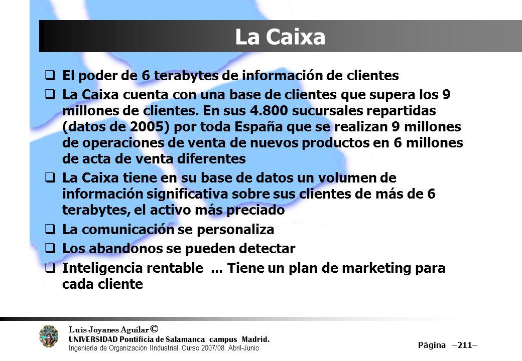 La Caixa El poder de 6 terabytes de información de clientes