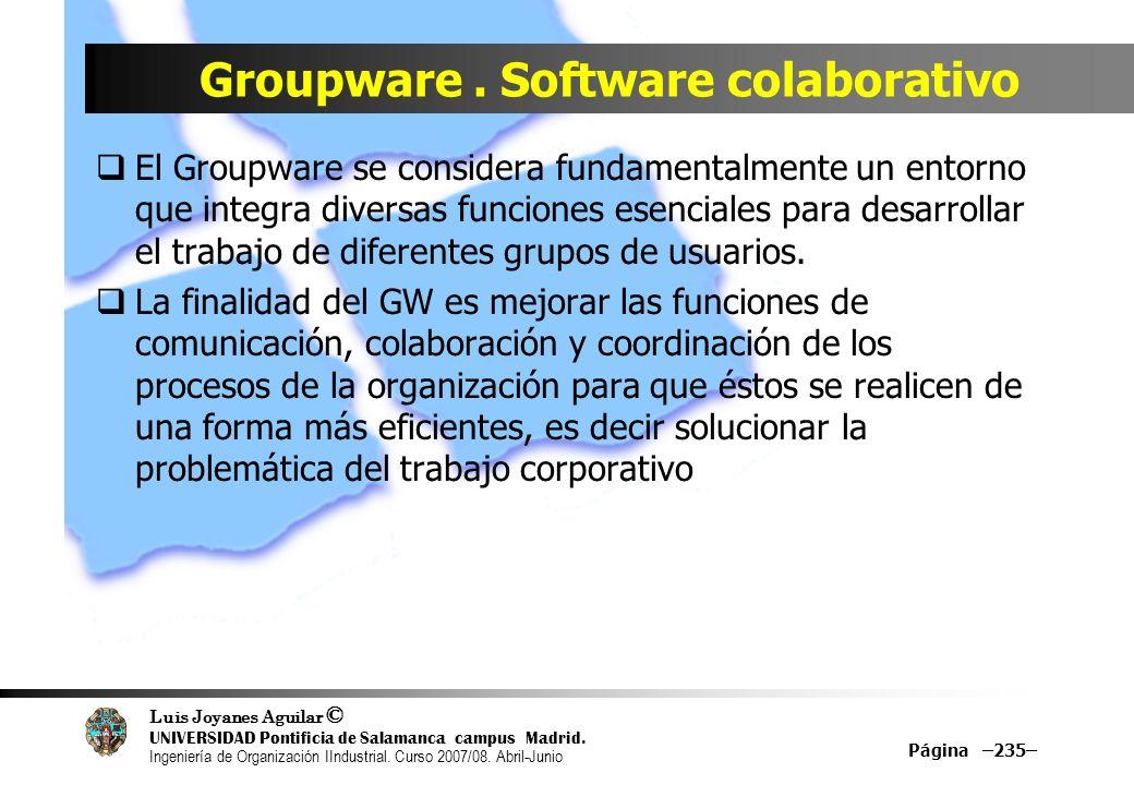 Groupware . Software colaborativo