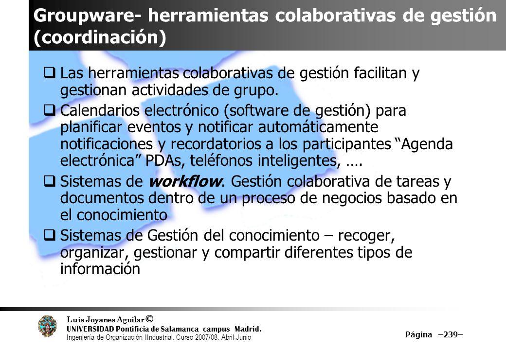 Groupware- herramientas colaborativas de gestión (coordinación)