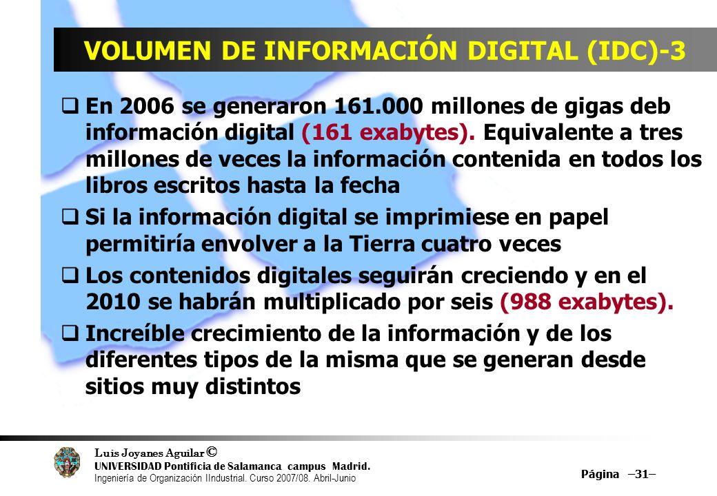 VOLUMEN DE INFORMACIÓN DIGITAL (IDC)-3