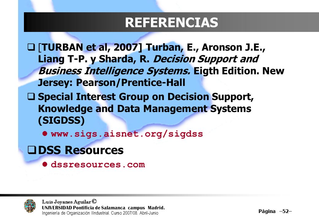 REFERENCIAS DSS Resources