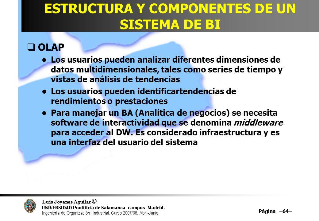 ESTRUCTURA Y COMPONENTES DE UN SISTEMA DE BI
