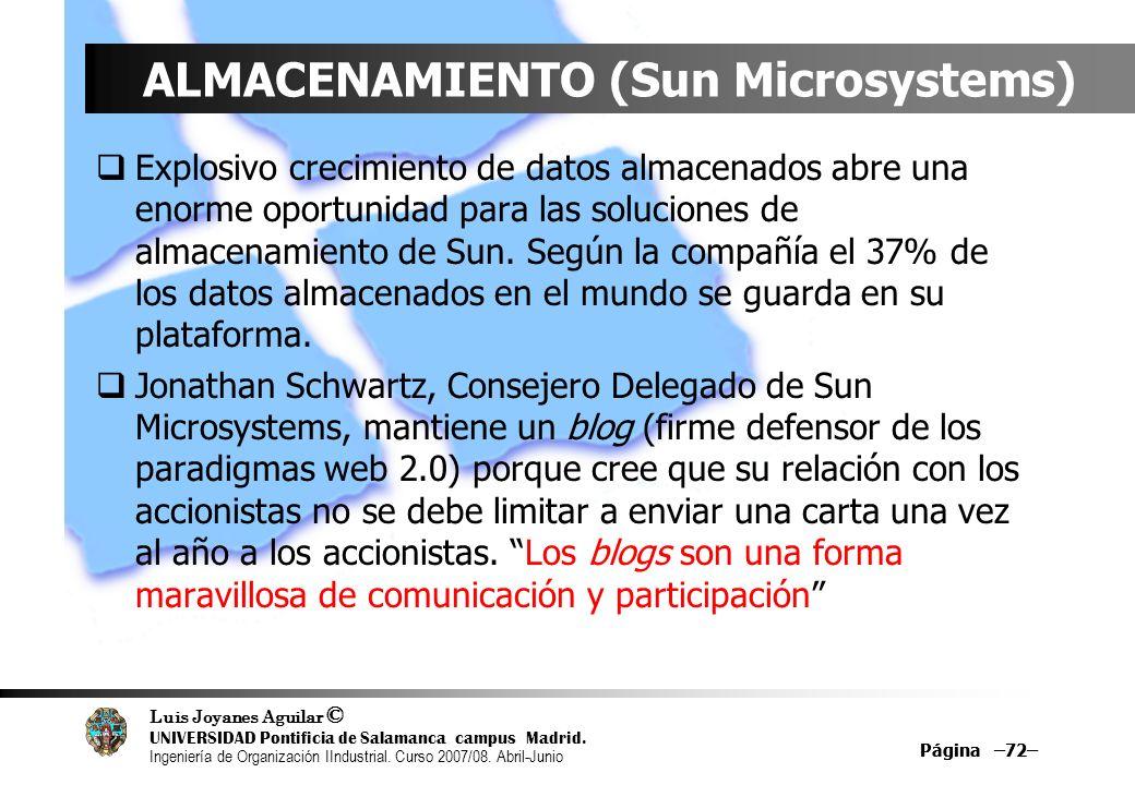 ALMACENAMIENTO (Sun Microsystems)