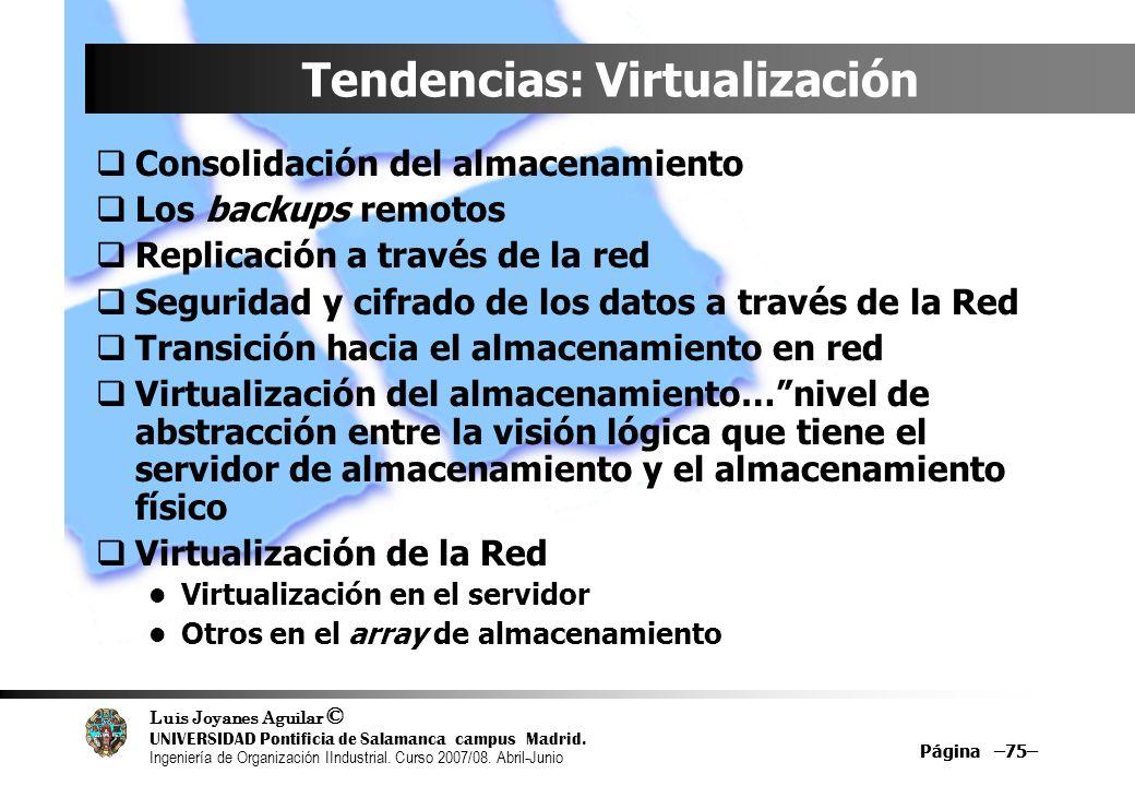 Tendencias: Virtualización