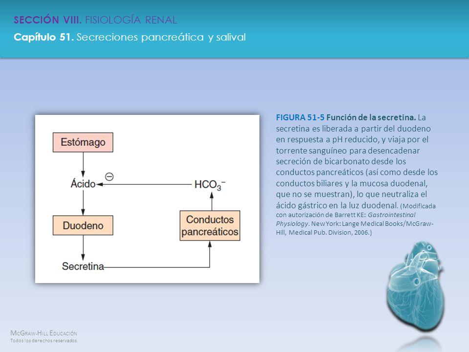 FIGURA 51-5 Función de la secretina