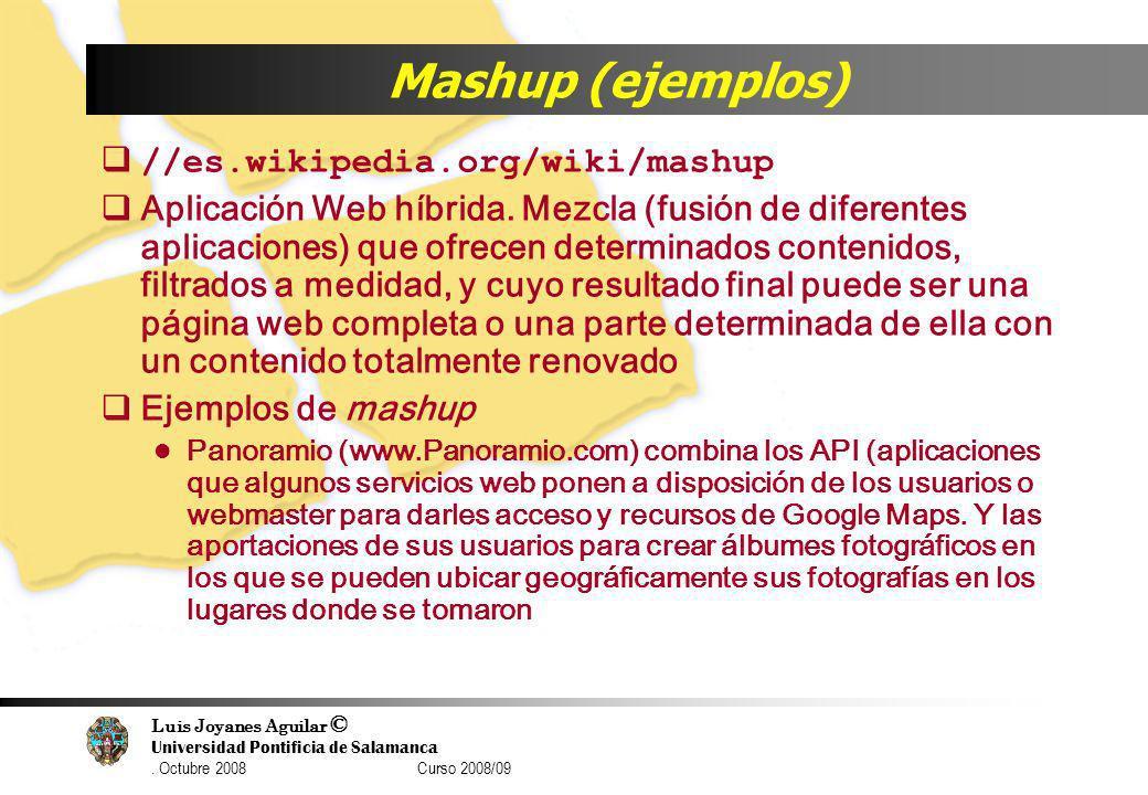 Mashup (ejemplos) //es.wikipedia.org/wiki/mashup
