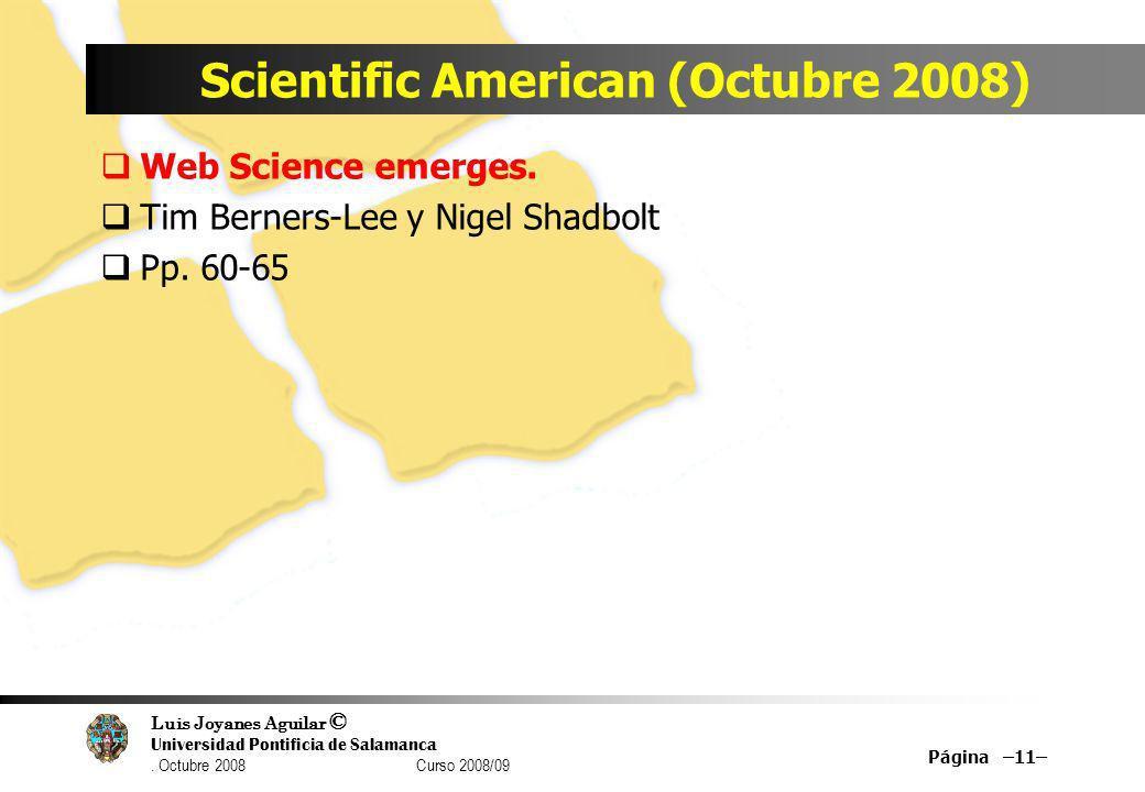 Scientific American (Octubre 2008)
