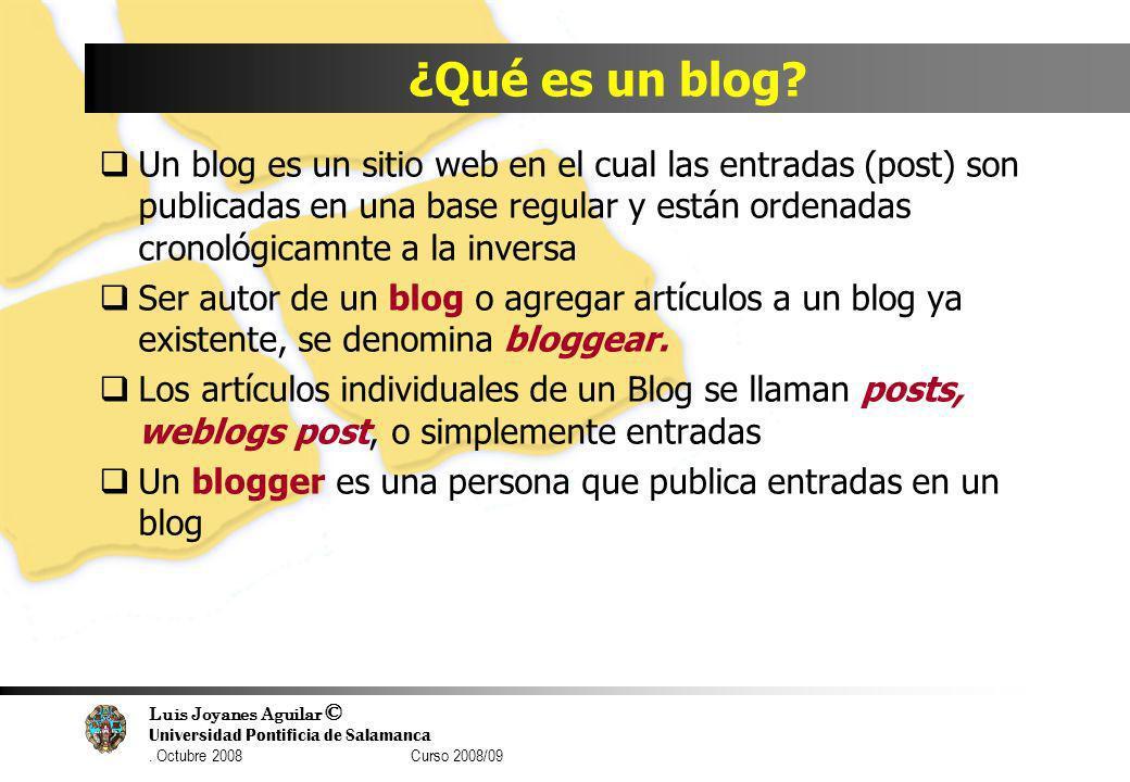 ¿Qué es un blog