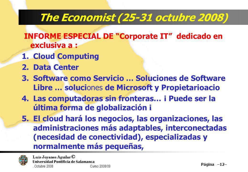 The Economist (25-31 octubre 2008)