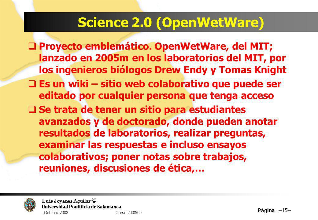 Science 2.0 (OpenWetWare)