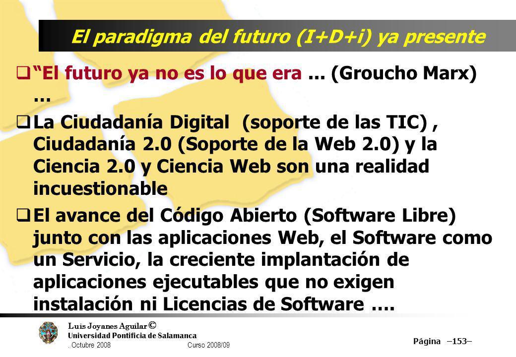 El paradigma del futuro (I+D+i) ya presente