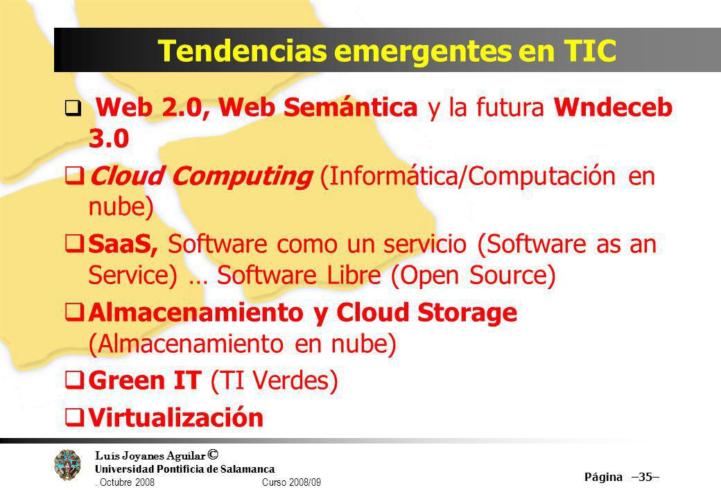 Tendencias emergentes en TIC