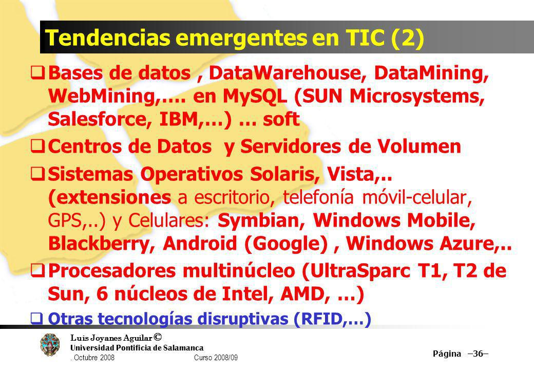 Tendencias emergentes en TIC (2)