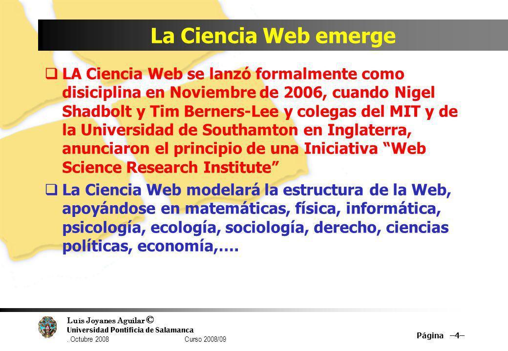 La Ciencia Web emerge