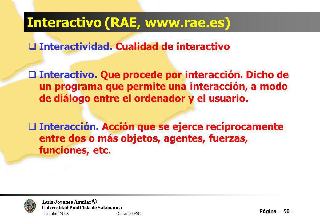 Interactivo (RAE, www.rae.es)