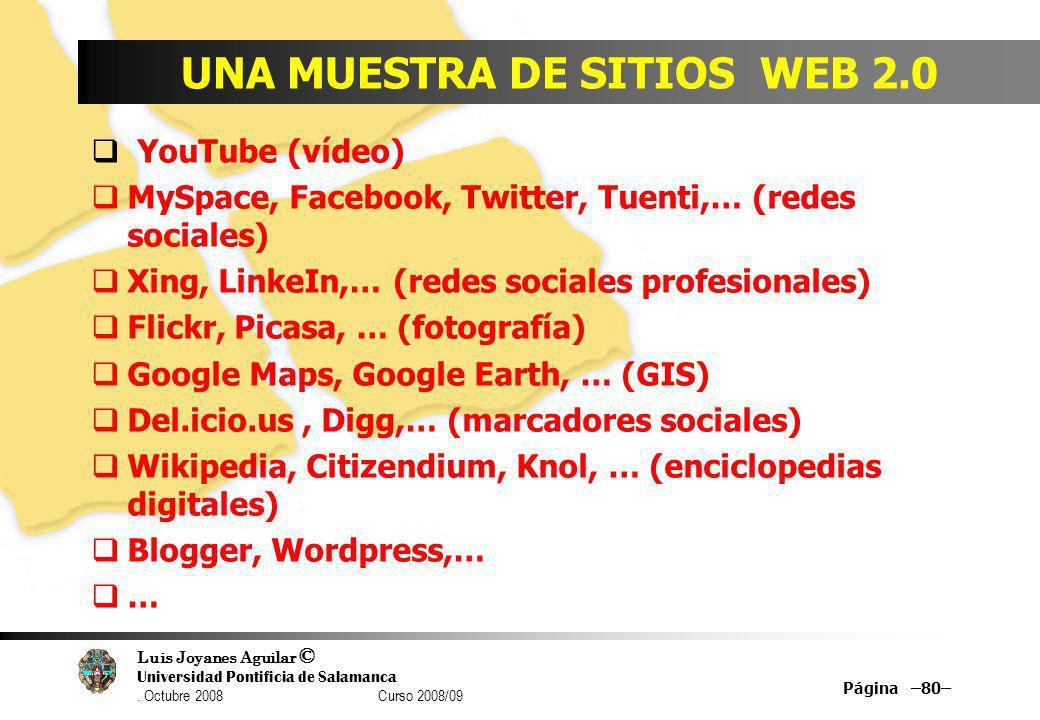 UNA MUESTRA DE SITIOS WEB 2.0
