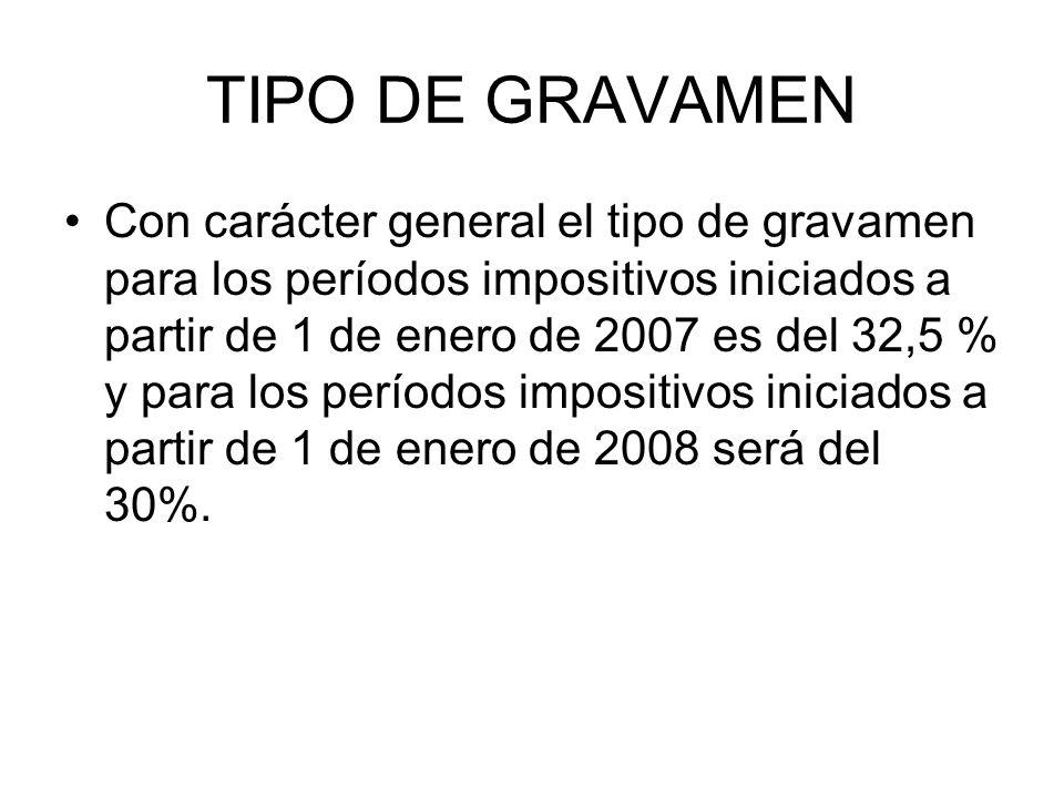 TIPO DE GRAVAMEN