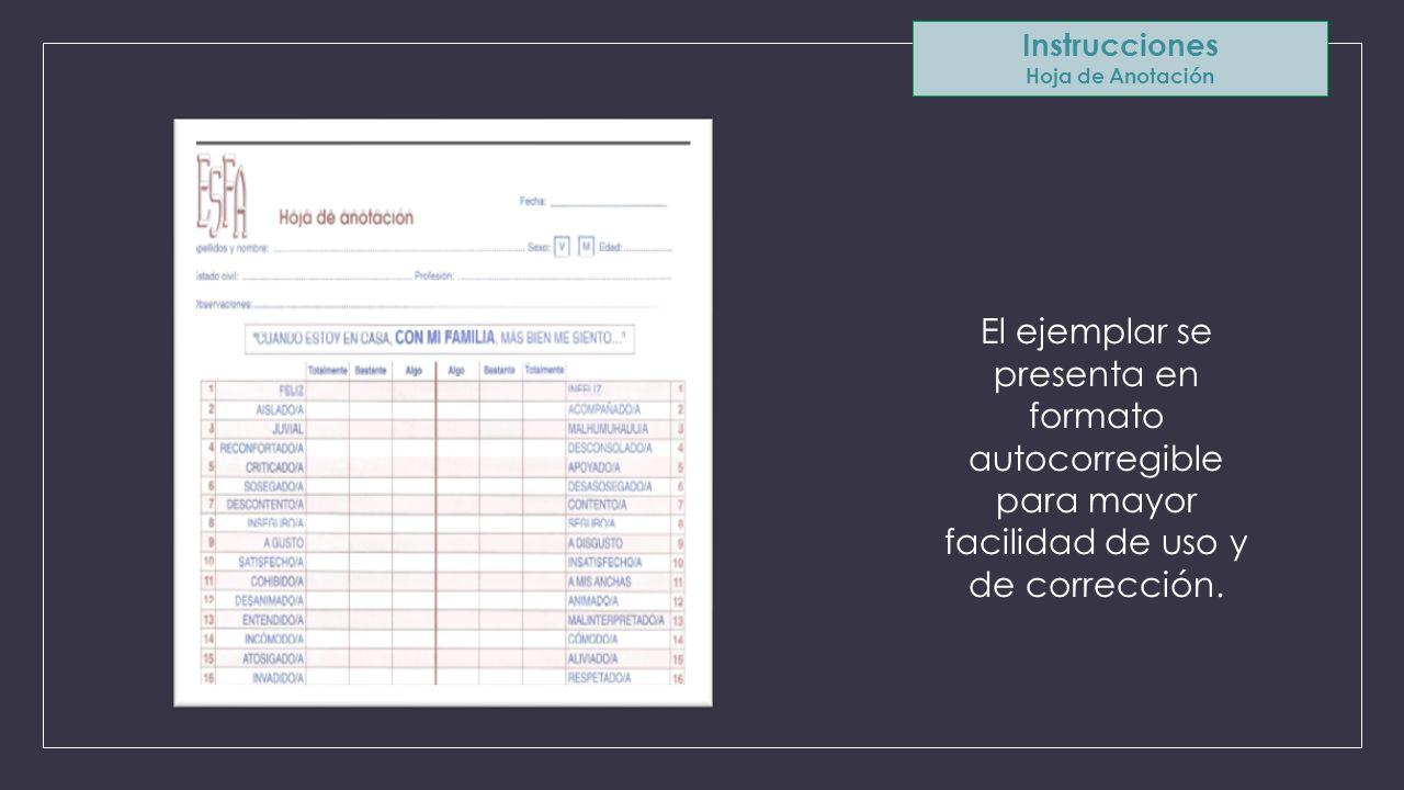 Instrucciones Hoja de Anotación.