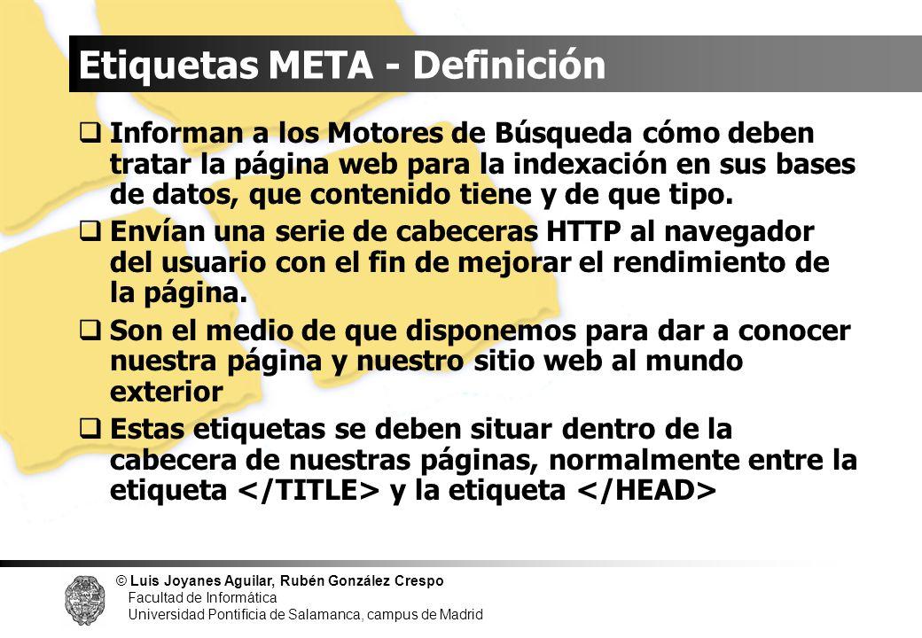 Etiquetas META - Definición