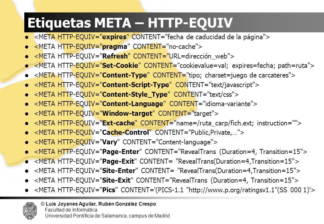 Etiquetas META – HTTP-EQUIV