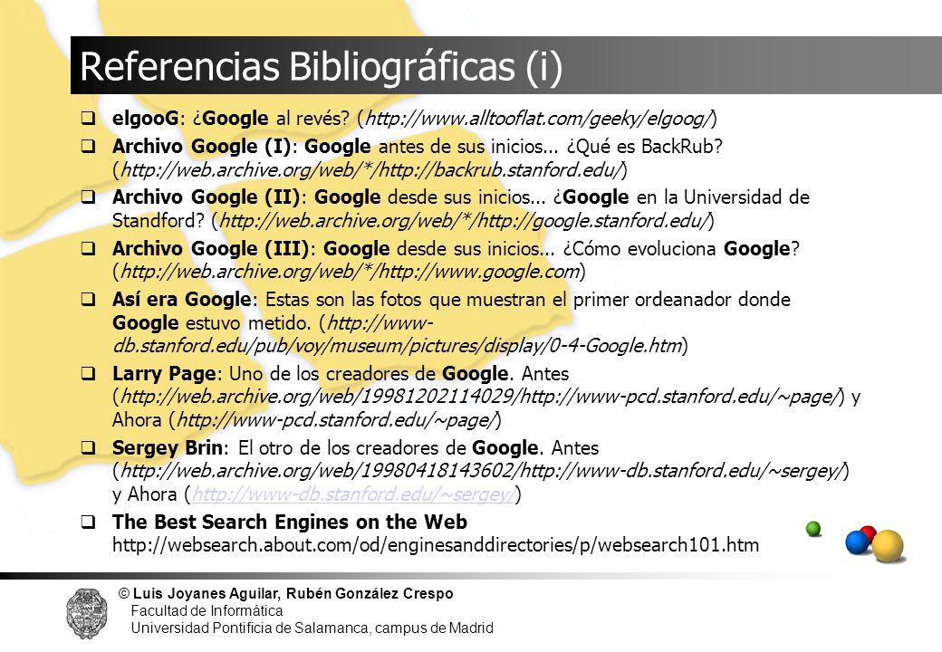 Referencias Bibliográficas (i)