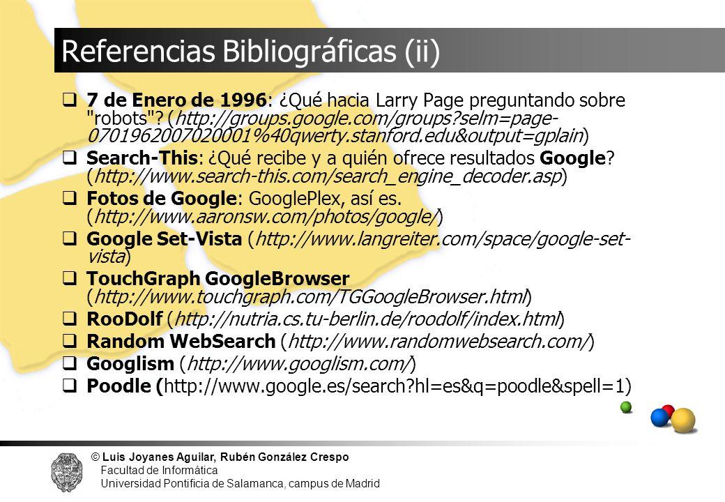 Referencias Bibliográficas (ii)