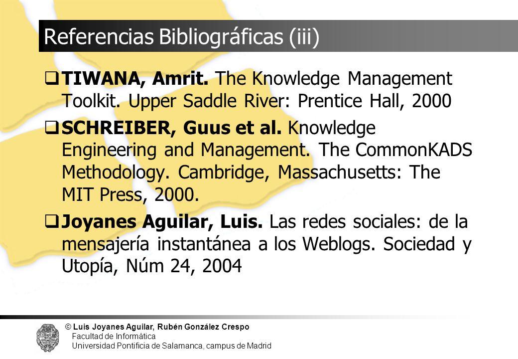 Referencias Bibliográficas (iii)