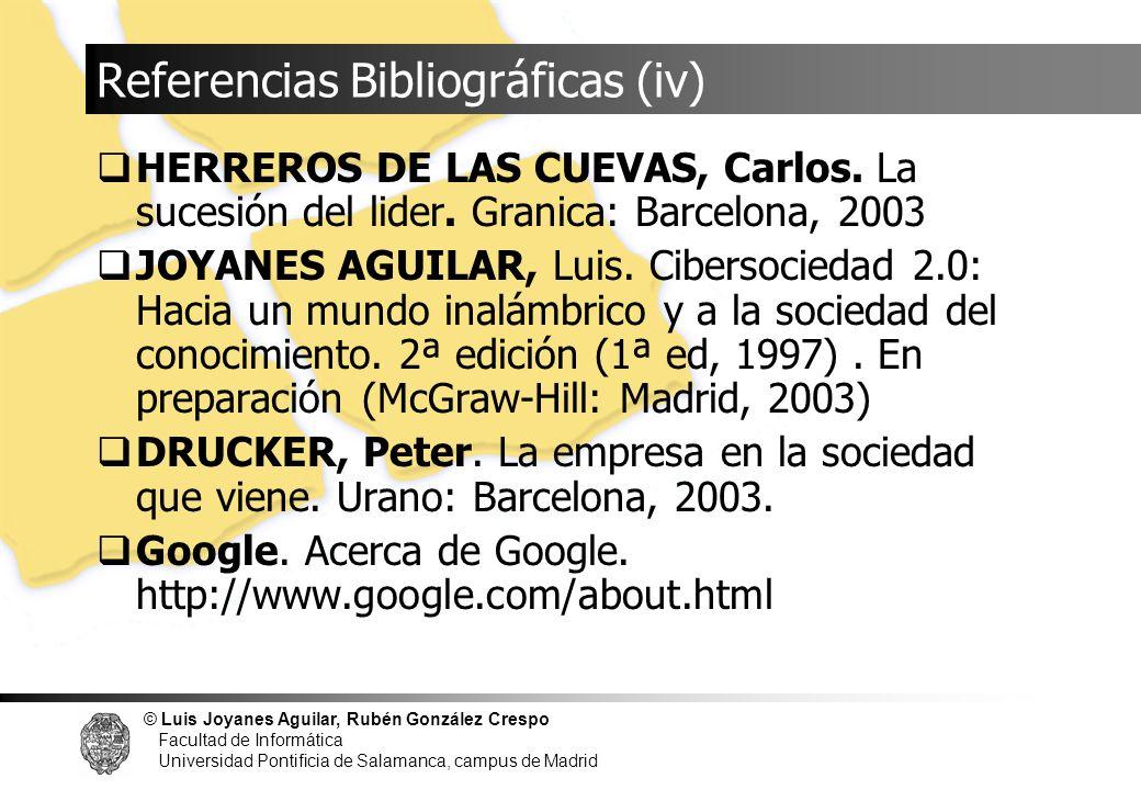 Referencias Bibliográficas (iv)
