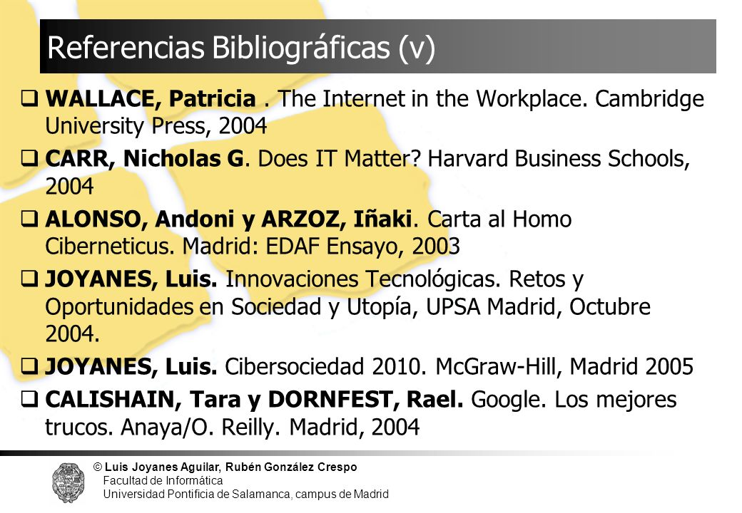 Referencias Bibliográficas (v)