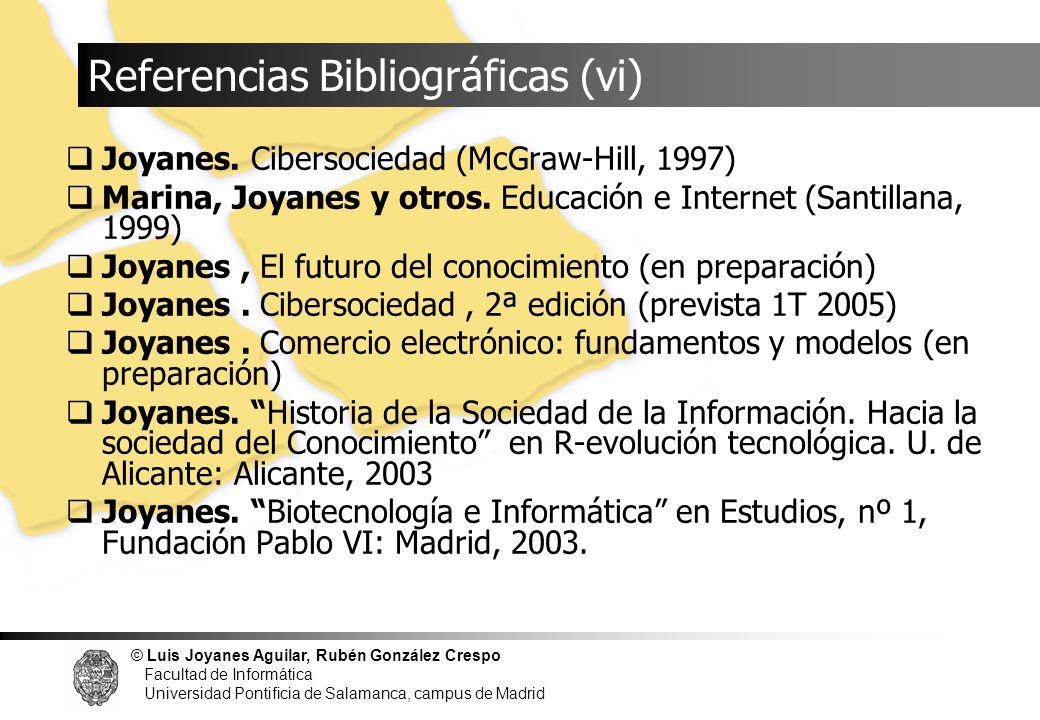 Referencias Bibliográficas (vi)