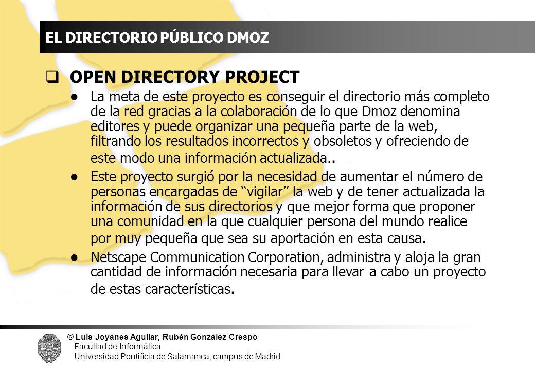 INDICE OPEN DIRECTORY PROJECT EL DIRECTORIO PÚBLICO DMOZ