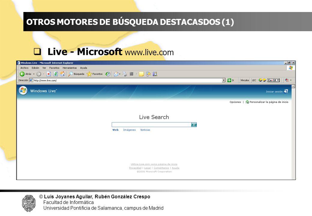 INDICE Live - Microsoft www.live.com