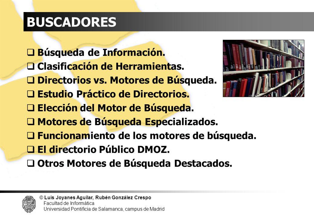 INDICE BUSCADORES Búsqueda de Información.