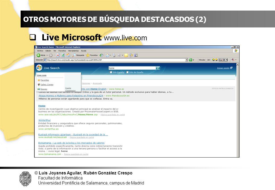 INDICE Live Microsoft www.live.com