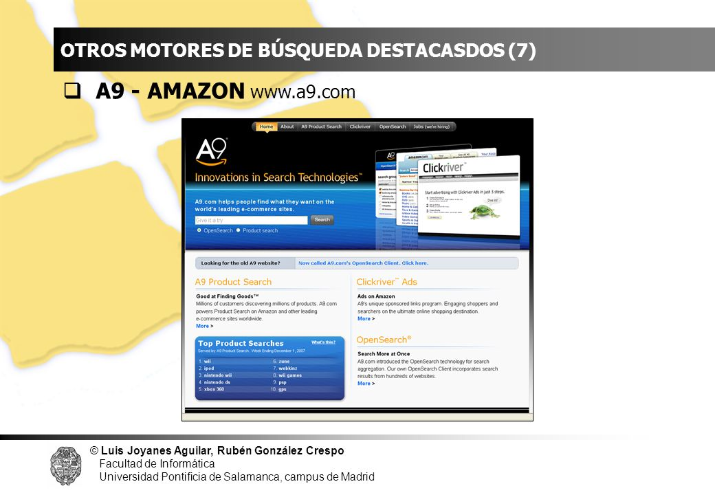 INDICE A9 - AMAZON www.a9.com