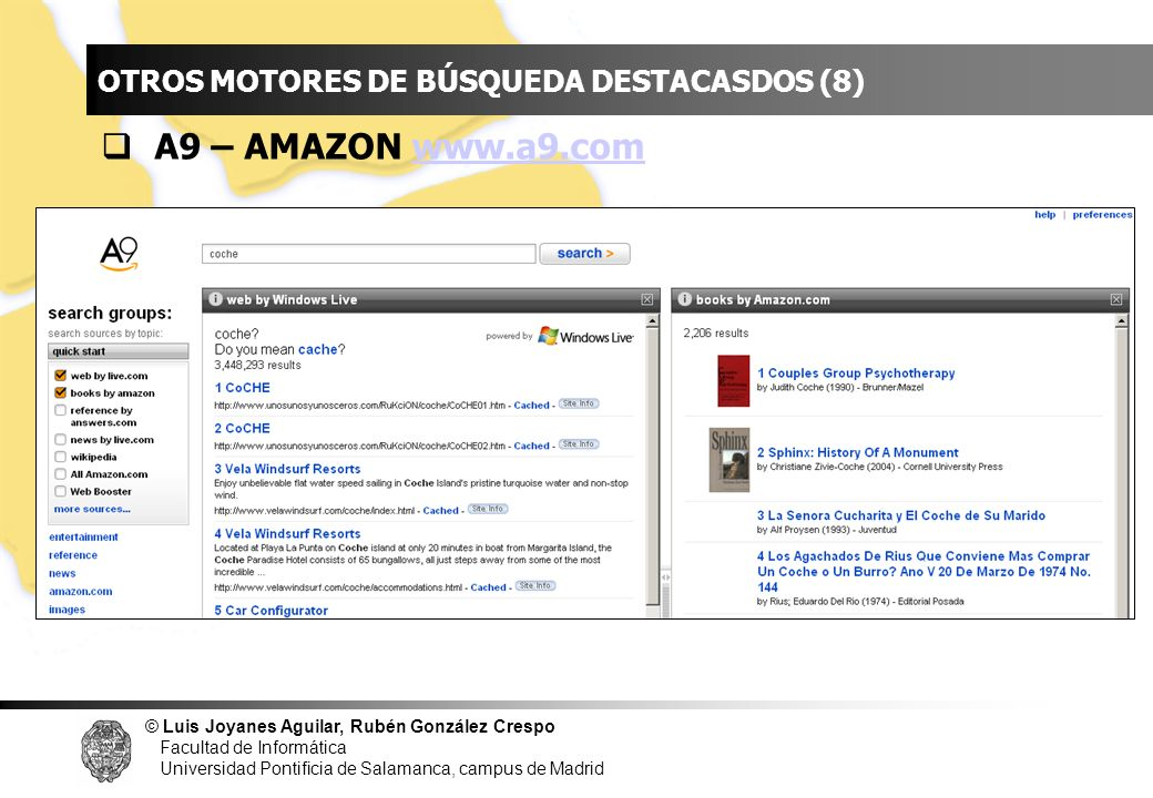 INDICE A9 – AMAZON www.a9.com