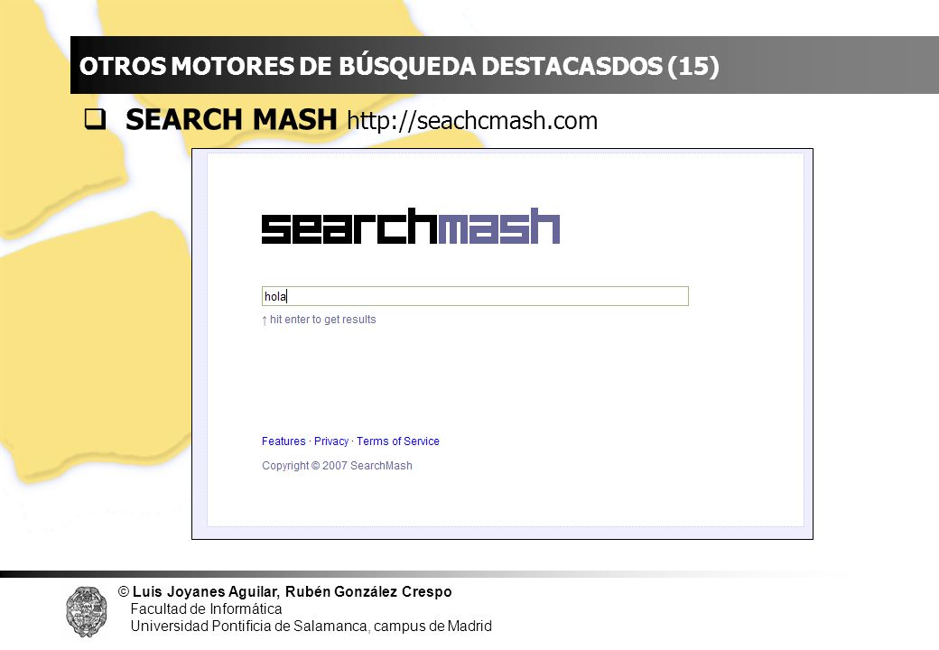 INDICE SEARCH MASH http://seachcmash.com
