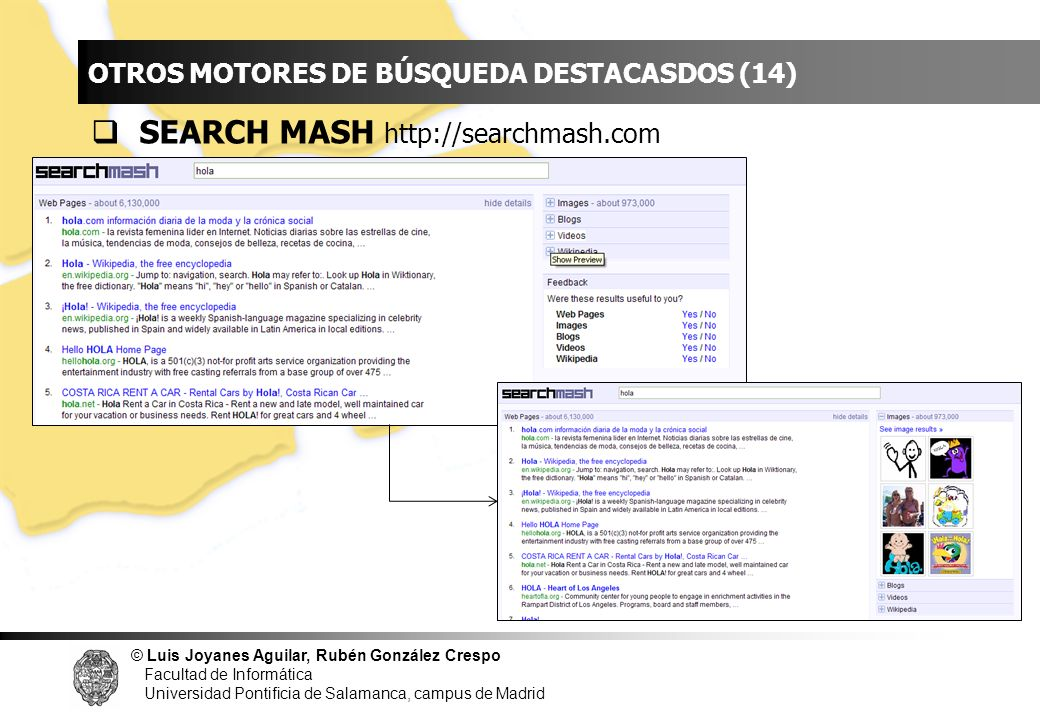 INDICE SEARCH MASH http://searchmash.com