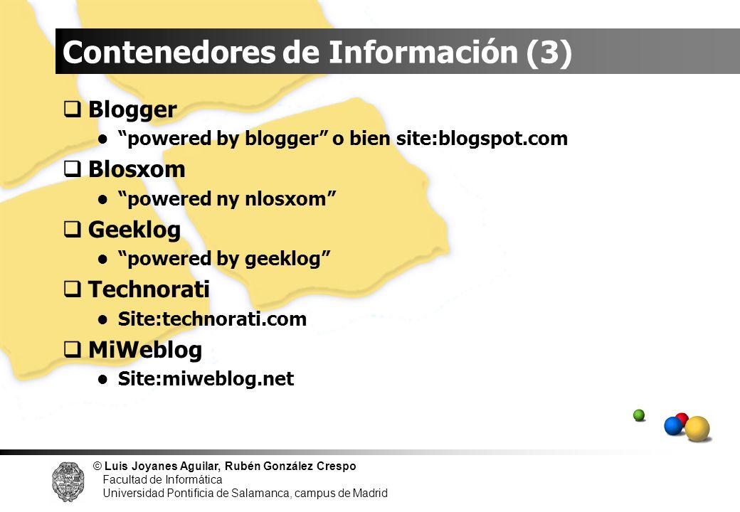 Contenedores de Información (3)