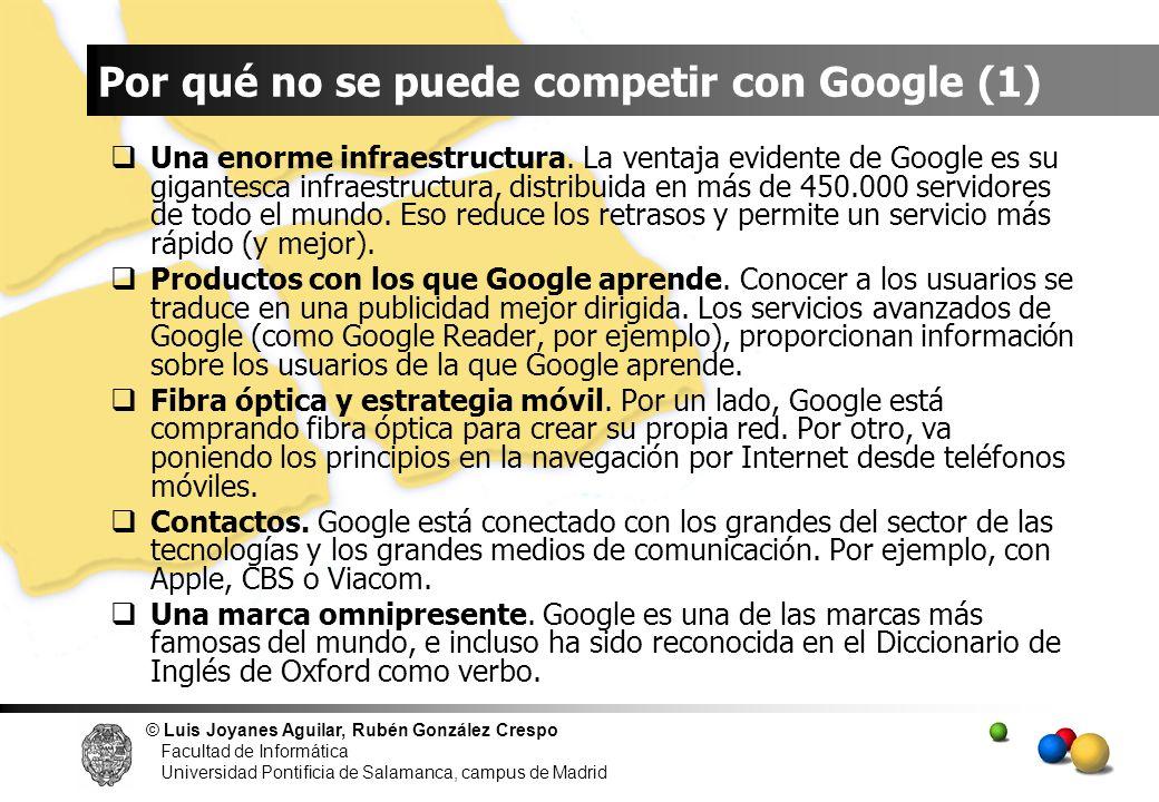 Por qué no se puede competir con Google (1)