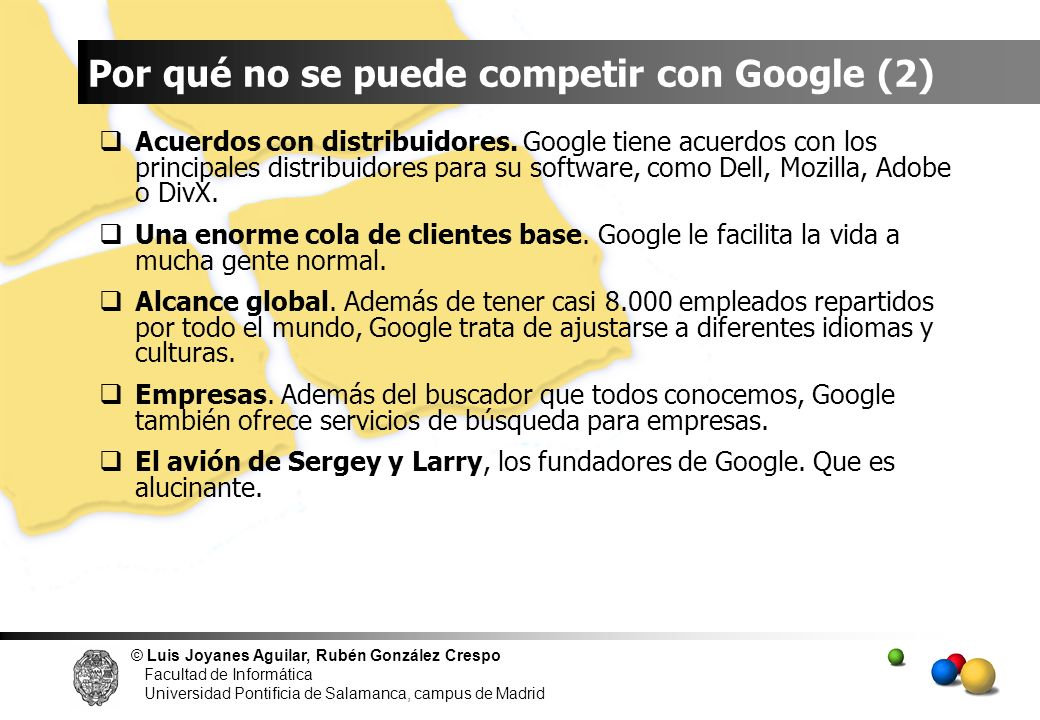 Por qué no se puede competir con Google (2)