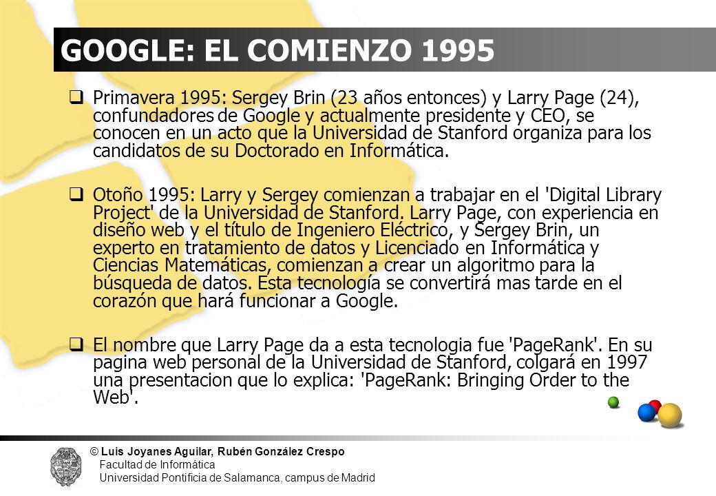 GOOGLE: EL COMIENZO 1995