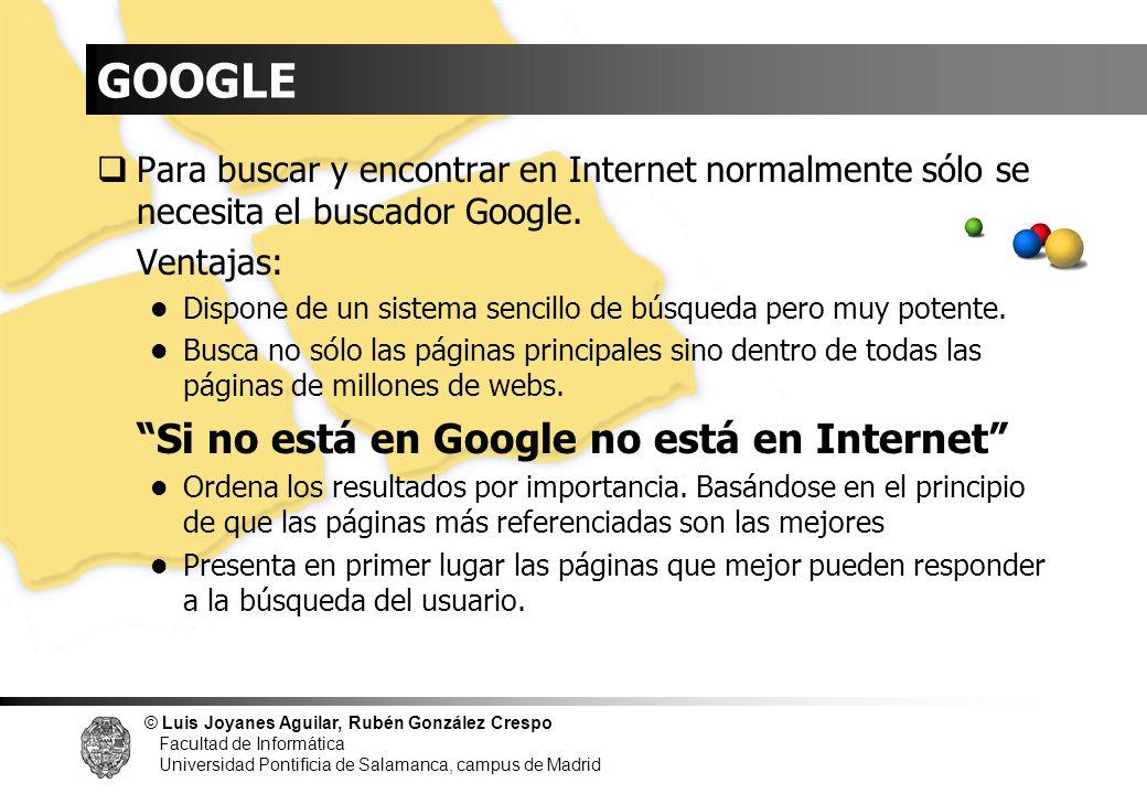 GOOGLE Si no está en Google no está en Internet