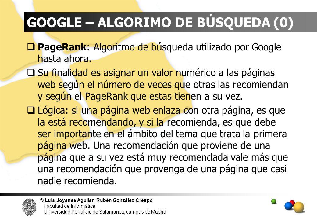 GOOGLE – ALGORIMO DE BÚSQUEDA (0)
