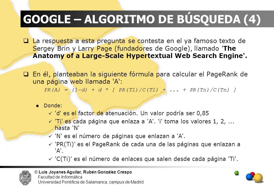 GOOGLE – ALGORITMO DE BÚSQUEDA (4)